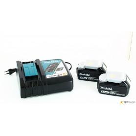 Cargador de batería makita - 197624-2 - + 2 baterías