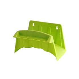 Carrete de manguera montado en la pared - de plástico - colores surtidos