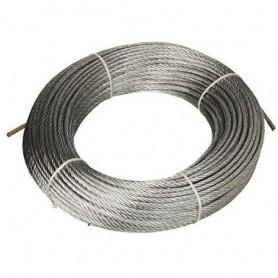 Cuerda de acero 133 cables de dia. 6 x 25mt. - roll