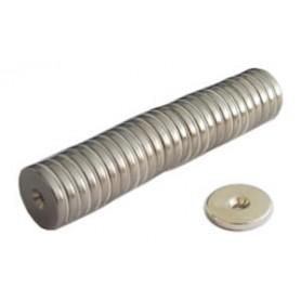 Botón del imán - c/el hoyo - neodim d.De 20 kg.30