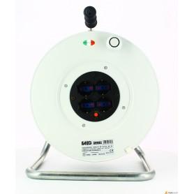 Carrete de Cable civil faeg - mt.50-3x1.5 - 4 schuko 220v ip20