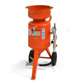 Limpieza con chorro de arena de la máquina de cb-60 litros - control remoto - con kit de