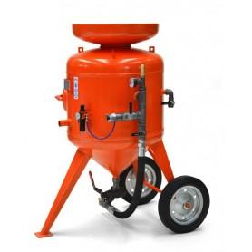 Limpieza con chorro de arena de la máquina de cb 215 litros - control remoto - con kit de 10 mt + casco
