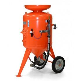 Limpieza con chorro de arena de la máquina de cb 300 litros - control remoto - con kit de 20 mt + casco